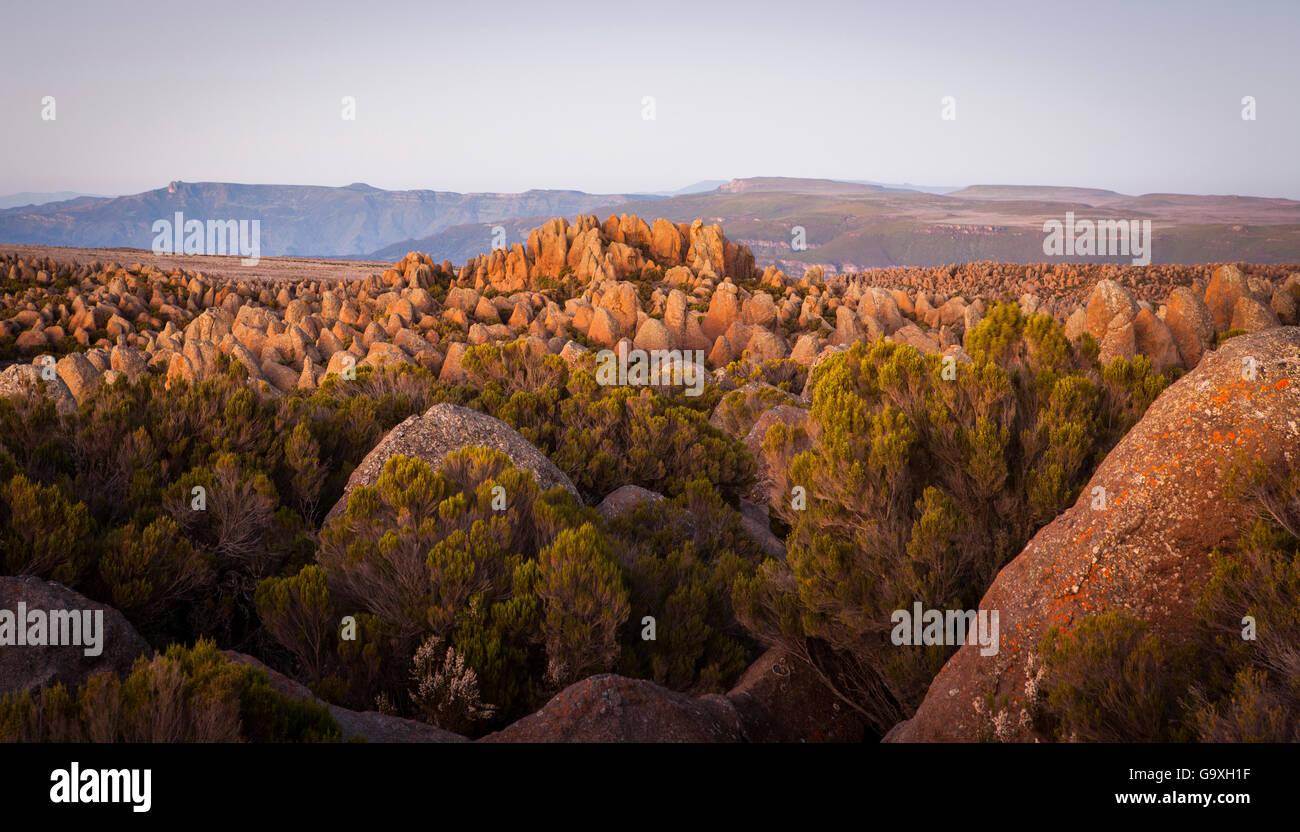 Unique granite landscape of Rafu, Ethiopia. December 2011. - Stock Image
