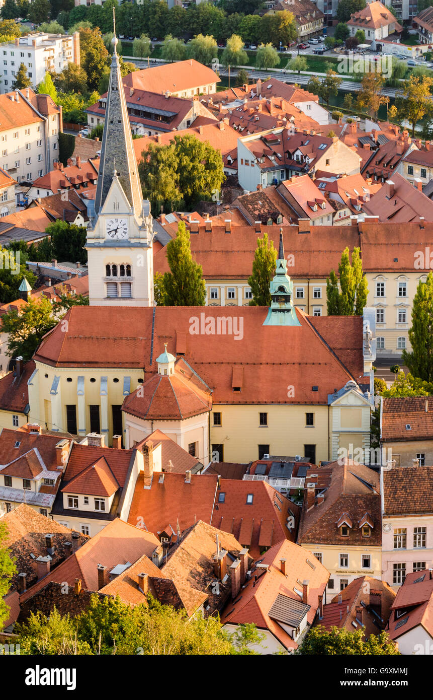 Ljubljana, St James Church, Slovenia - Stock Image