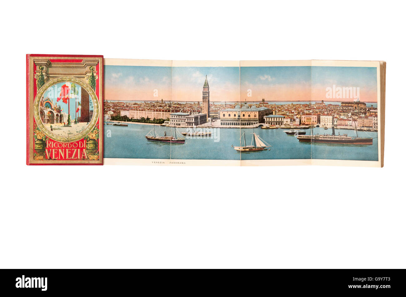 Postcard folder of Venice early twentieth century - Stock Image