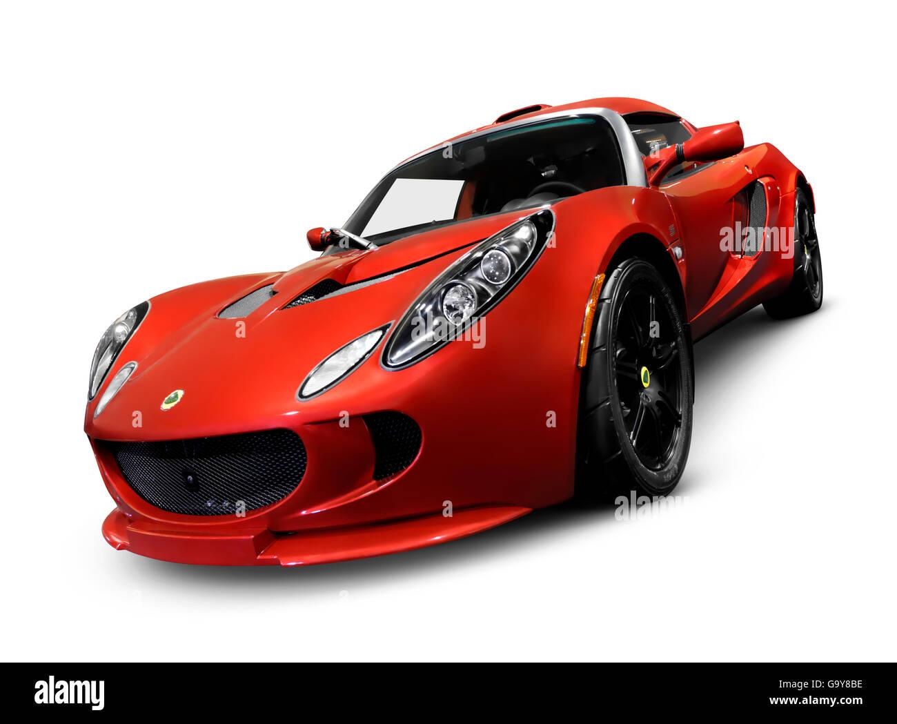 2008 red Lotus Elise sports car - Stock Image