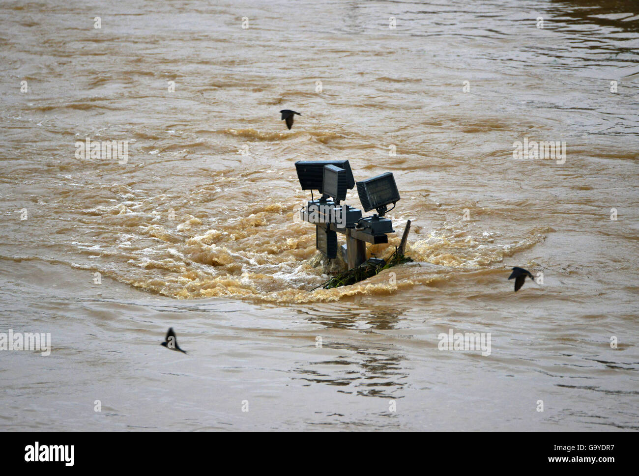 Anhui, China. 02nd July, 2016. The bank of Laopi River is submerged in Lu'an City, east China's Anhui Province, - Stock Image