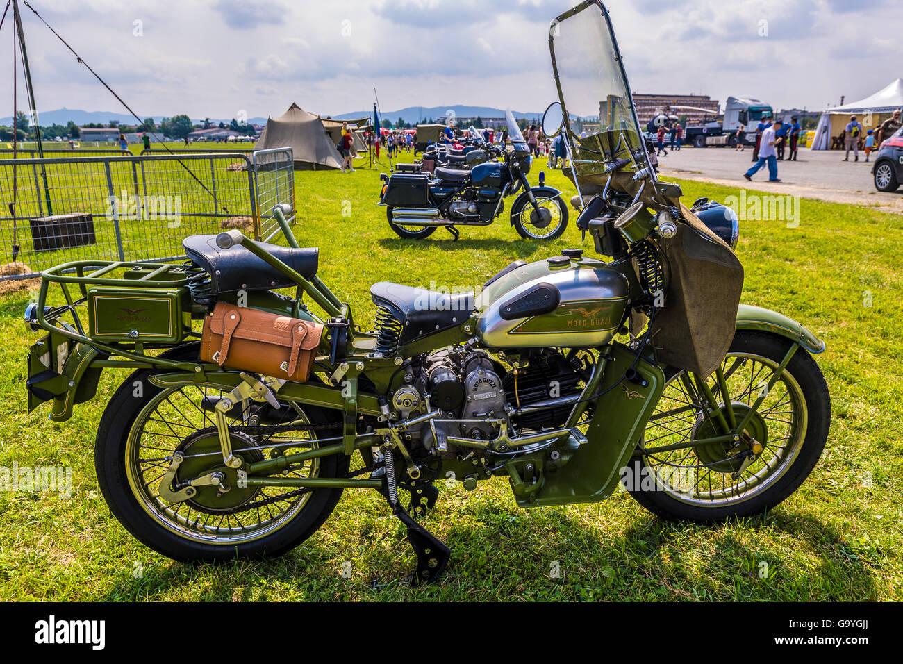 Italy Turin Collegno Aereoclub Event July 2, 2016 Centennial Airport Torino Aeritalia - 1916/2016, Ancient Moto - Stock Image