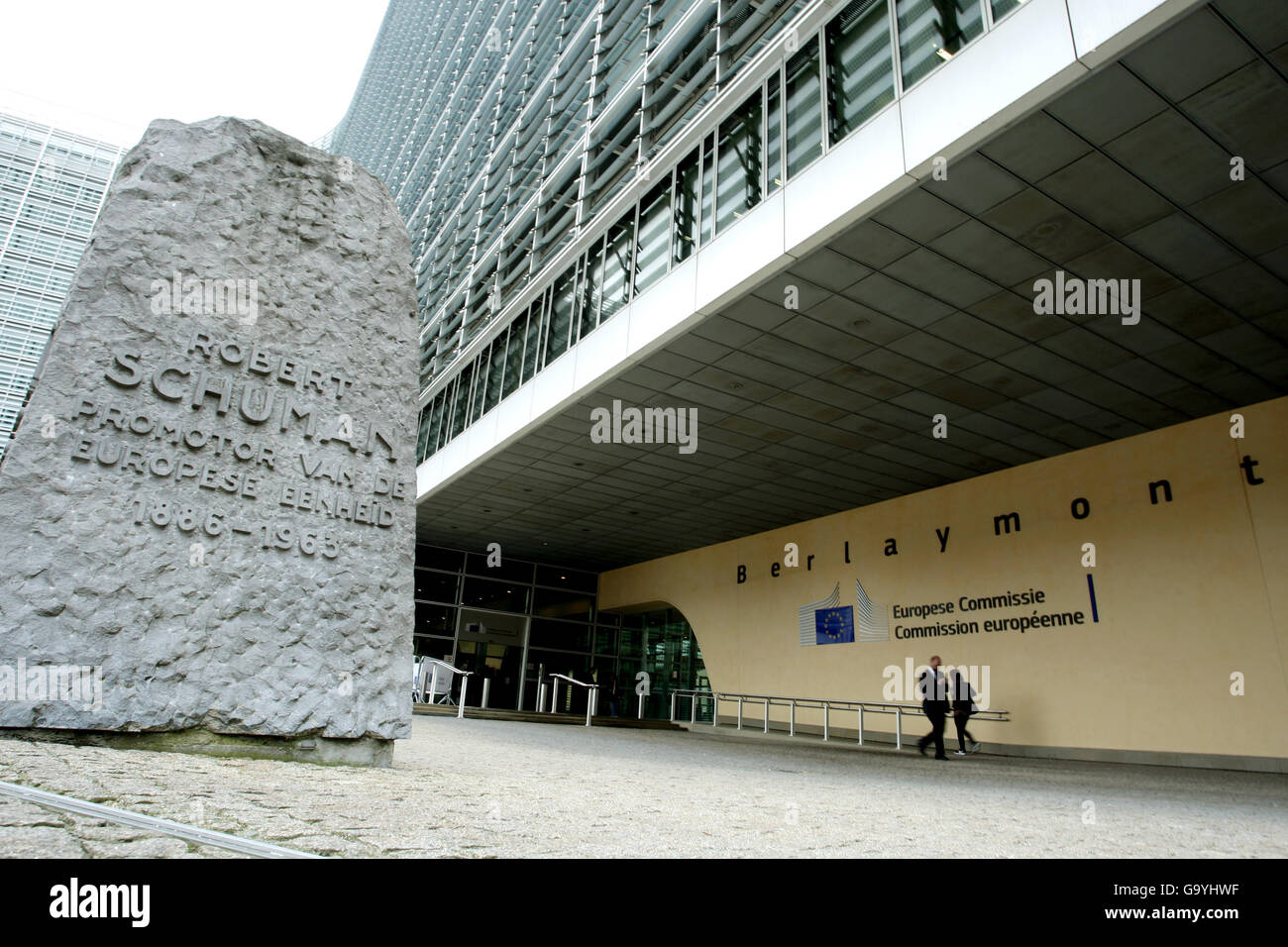 Brussels,Belgium,04/07/2016 Berlaymont Building European Commission Headquarters - Stock Image