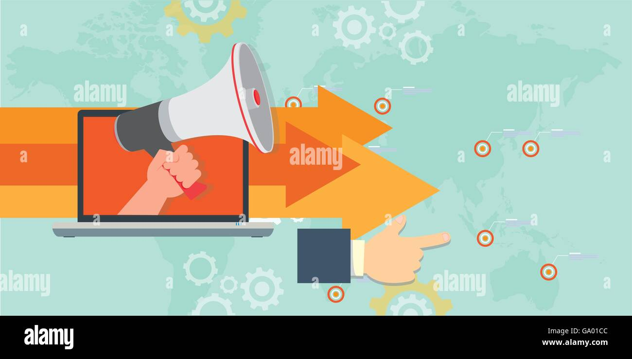 online marketing direction concept vector illustration design - Stock Image
