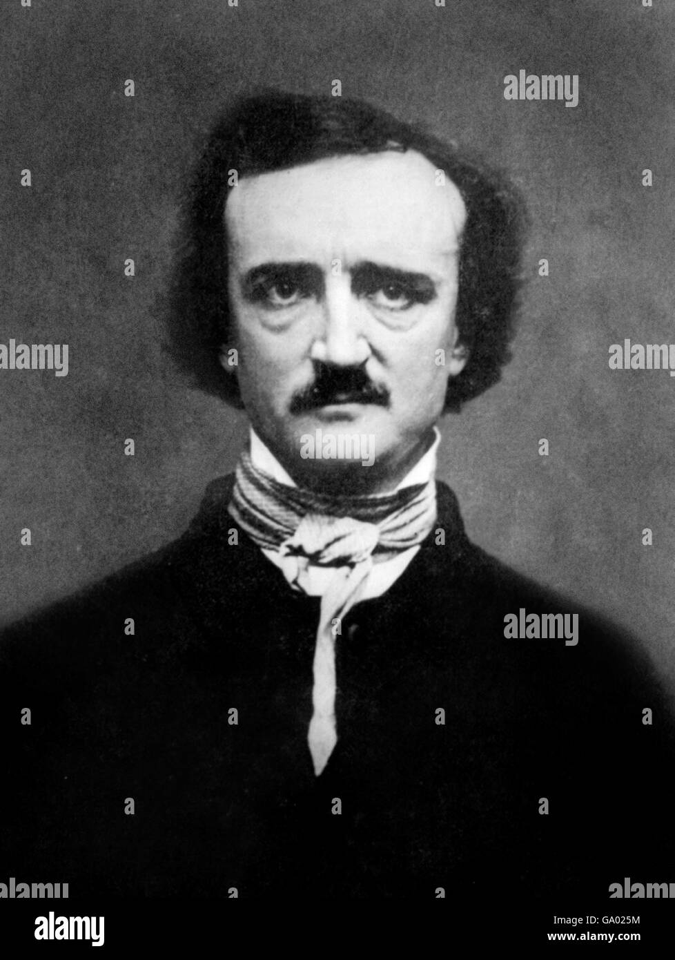 Edgar Allan Poe. Portrait of the American writer, Edgar Allan Poe (born Edgar Poe; 1809-1849). From a daguerrotype - Stock Image