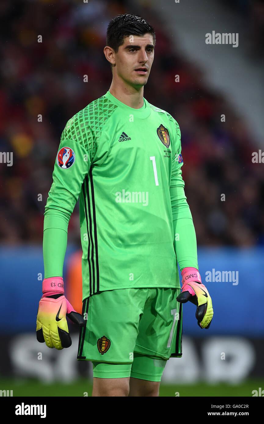 7418d3a5671 Belgium goalkeeper Thibaut Courtois during the UEFA Euro 2016 Stock ...