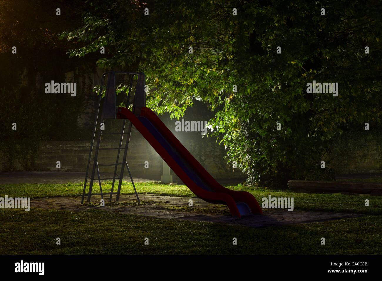 Empty Playground Night High Resolution Stock Photography And Images Alamy