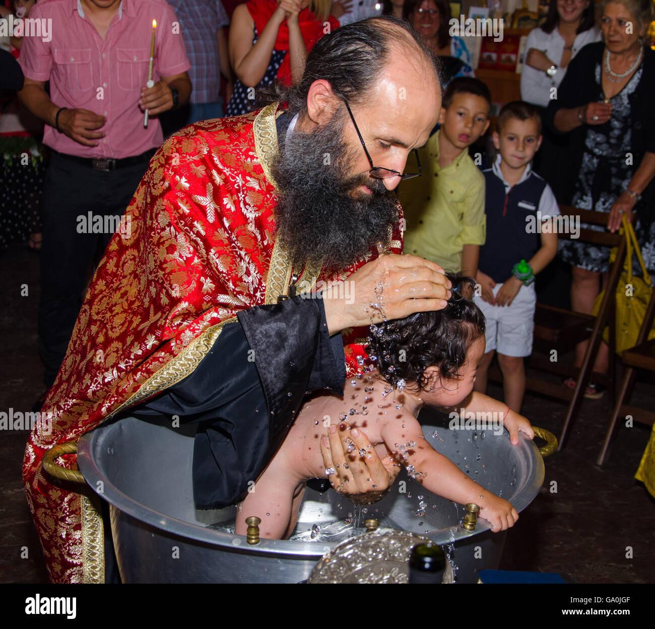christening baptism - Stock Image