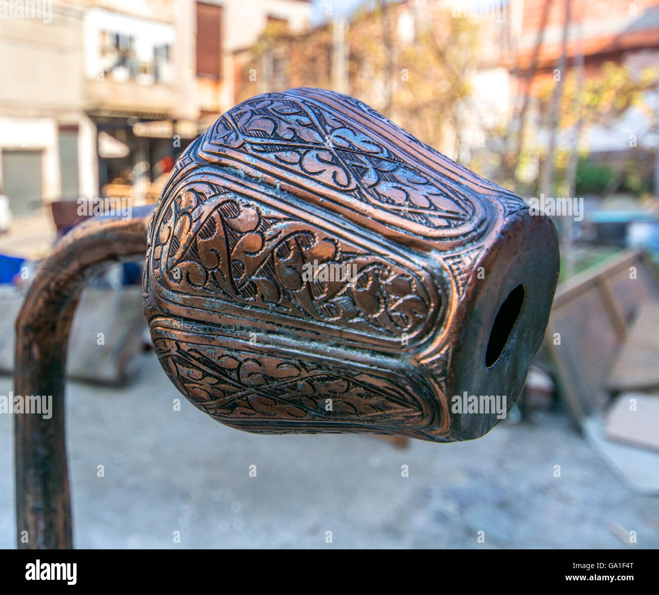 old copper ewer Stock Photo