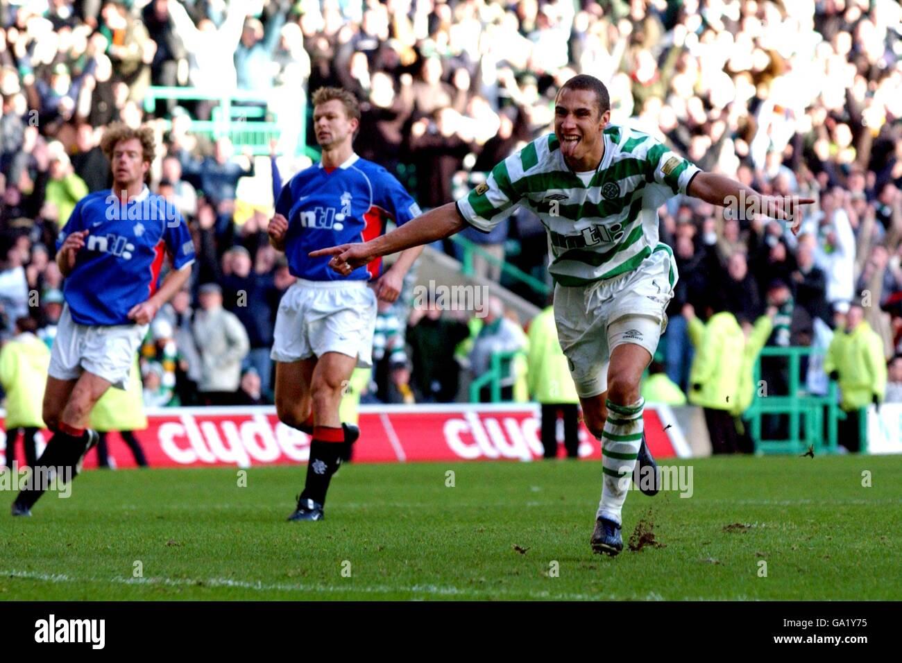 Scottish Soccer - Bank Of Scotland Premier League - Celtic v Rangers - Stock Image