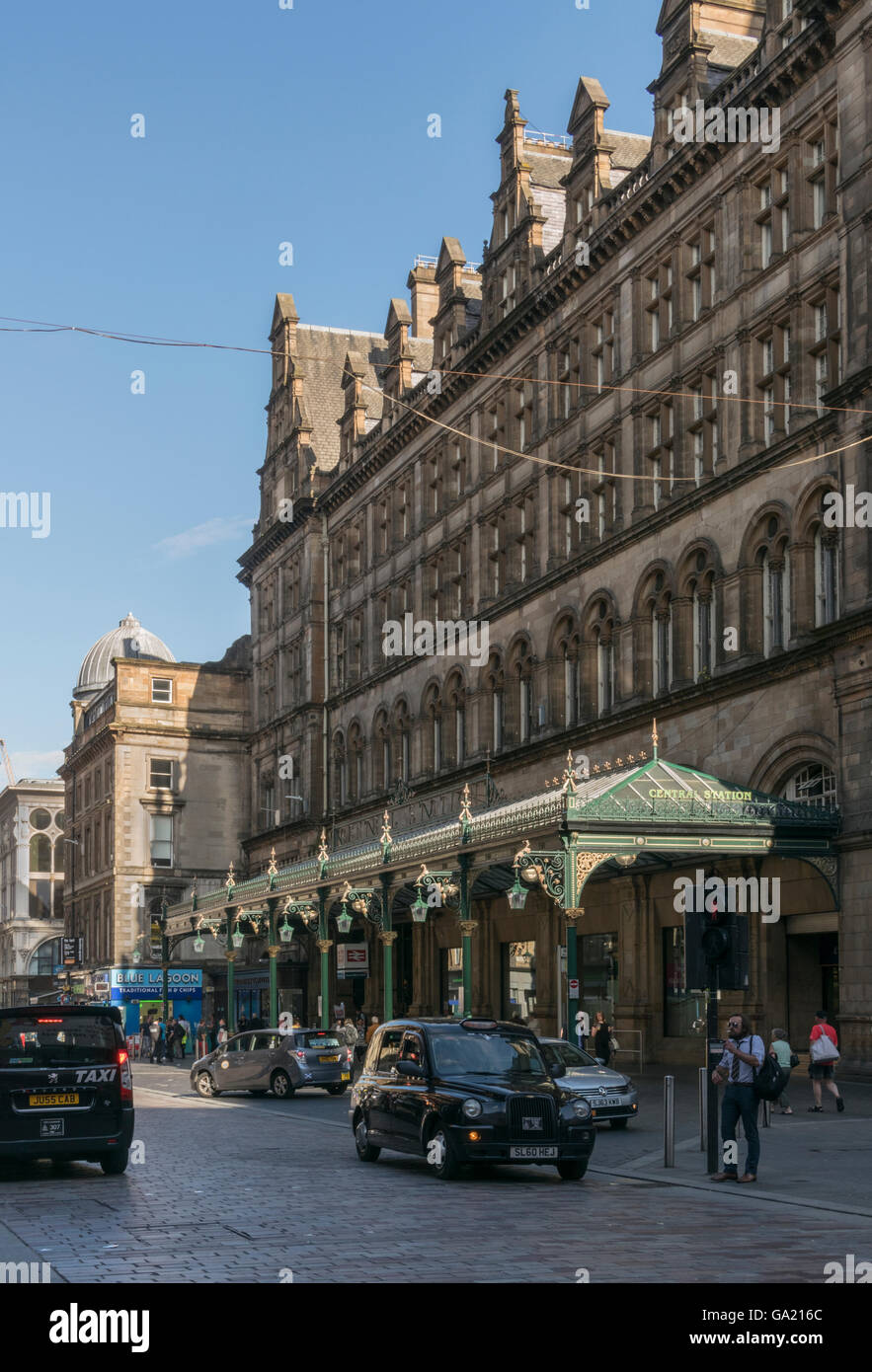 Entrance to Central Station,Gordon Street,Glasgow,Scotland,UK, - Stock Image