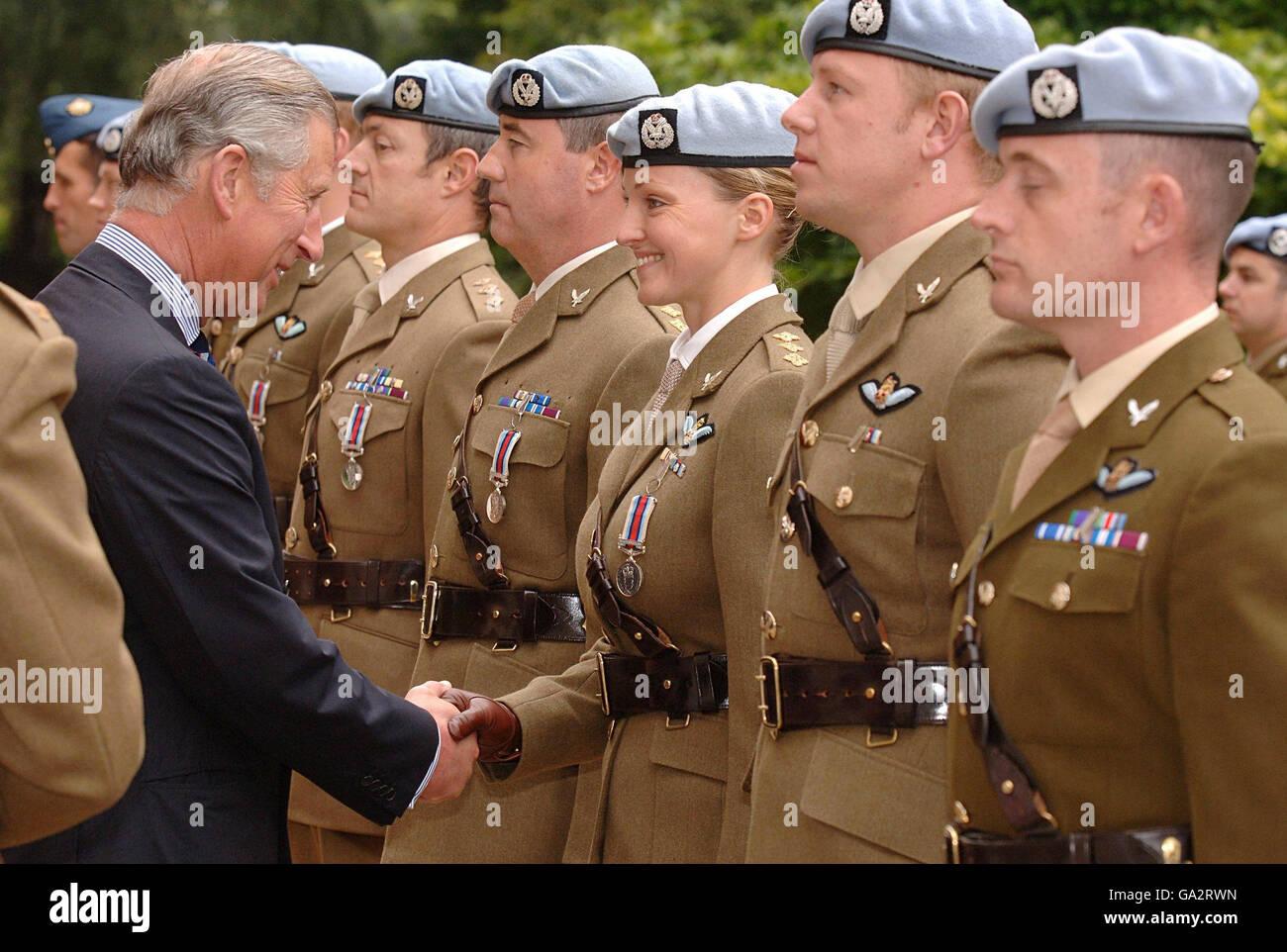 Prince Of Wales OP Herrick Medal Presentation Stock Photo - Alamy