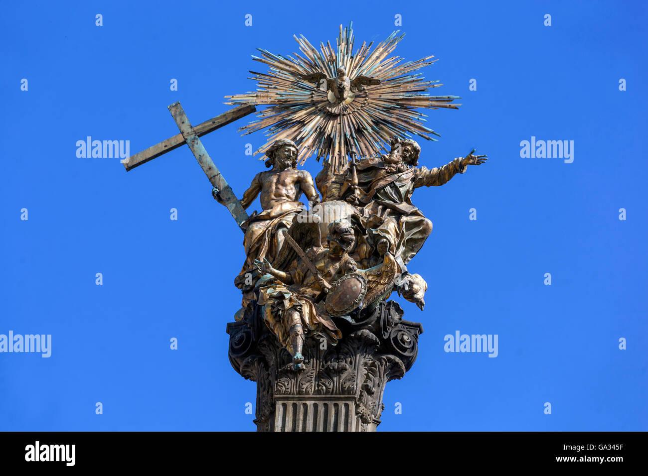 Pillar of the Holy Trinity, Olomouc, South Moravia, Czech Republic, Europe - Stock Image