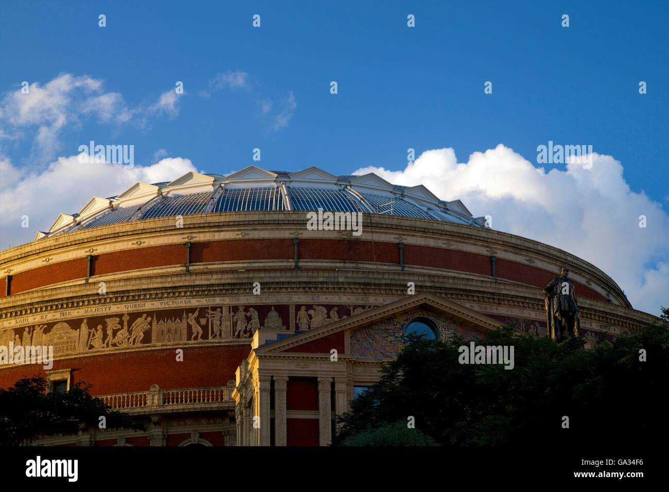 Exterior of Royal Albert Hall, Kensington, London, England, UK, GB - Stock Image