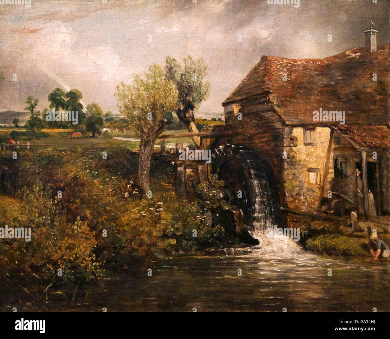 Parham's Mill, Gillingham, by John Constable, 1824, Fitzwilliam Museum, Cambridge, England, UK, GB - Stock Image