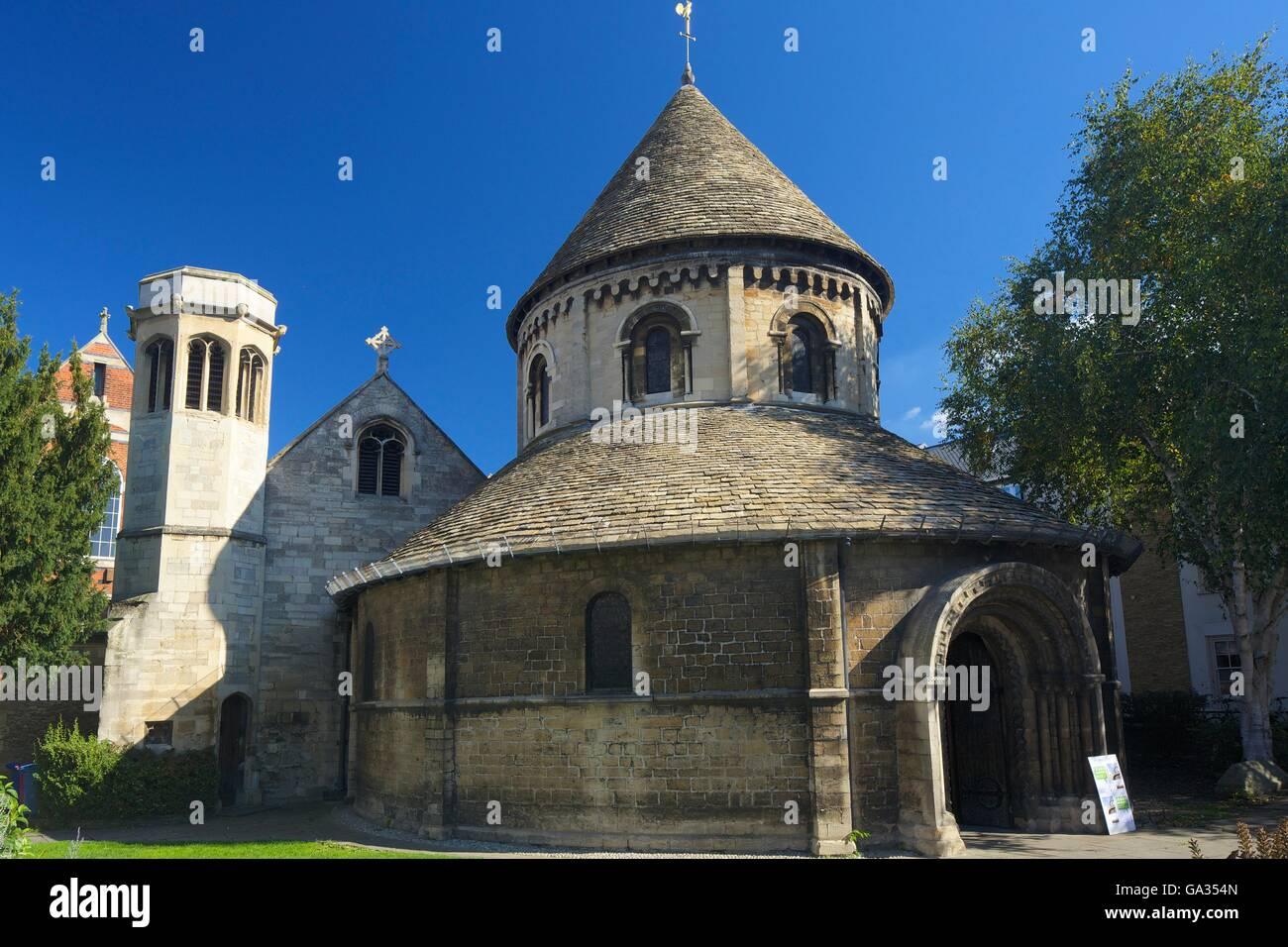 Church of Holy Sepulchre, or Round Church, Cambridge, Cambridgeshire, England, UK, GB, Europe - Stock Image