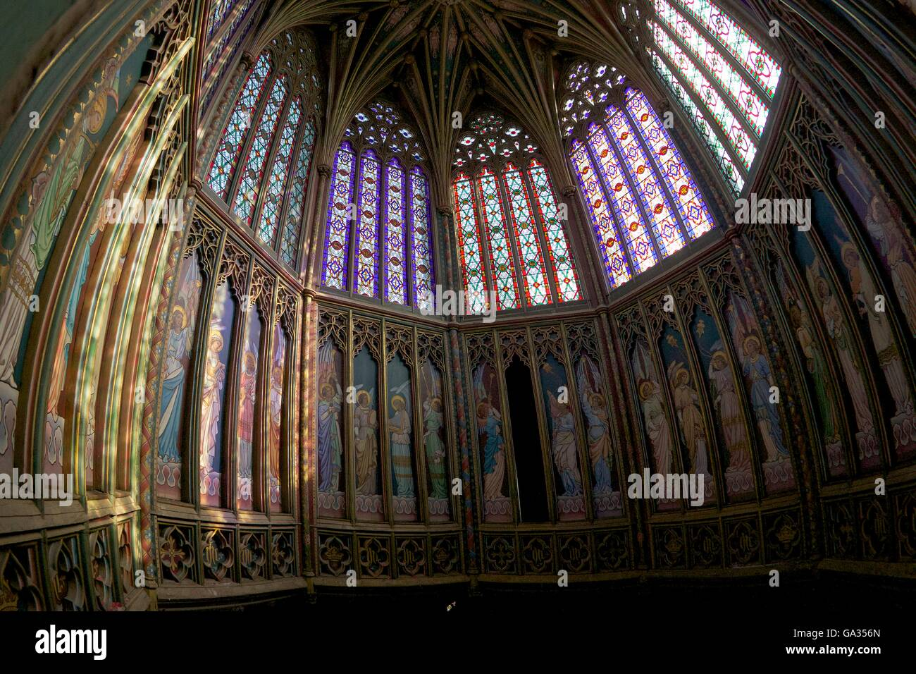 Ely Cathedral Interior, lantern,  Cambridgeshire England GB UK - Stock Image