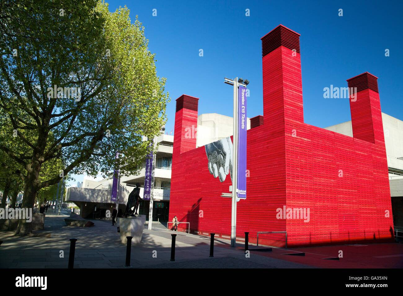 The Shed, National Theatre, South Bank, London, England, UK, GB, Europe - Stock Image