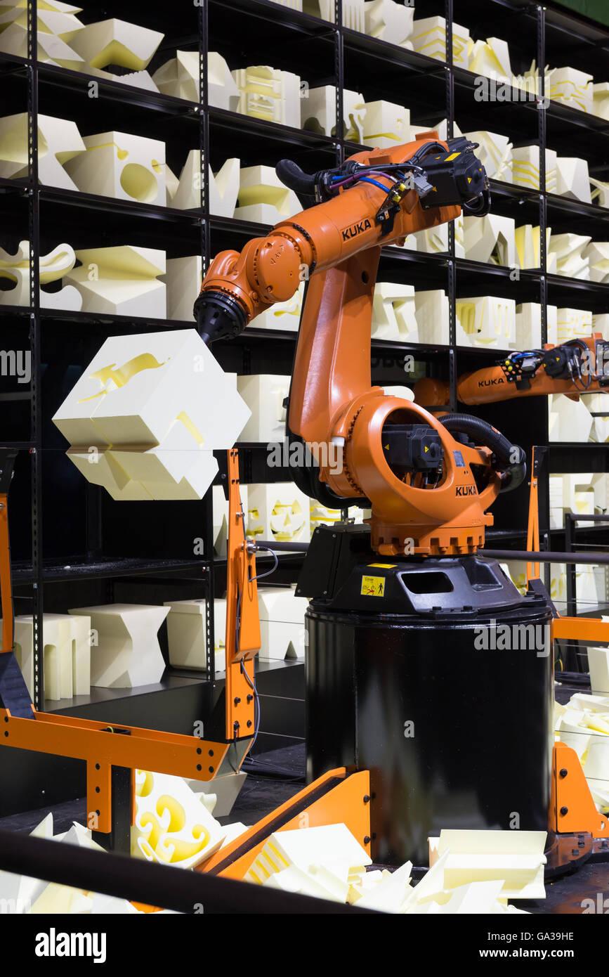 Robot Arm at Cebit - Stock Image