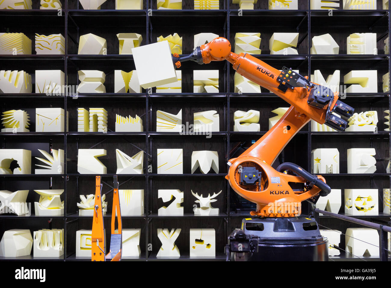 Robot Arm at Cebit - Stock Image