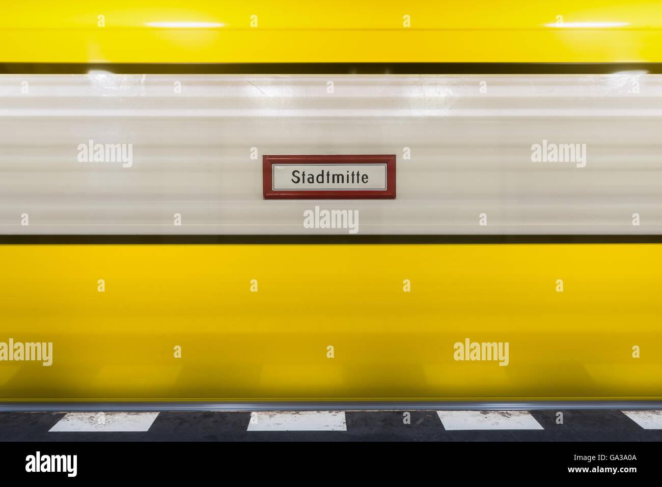 Stadtmitte Sign, Berlin - Stock Image