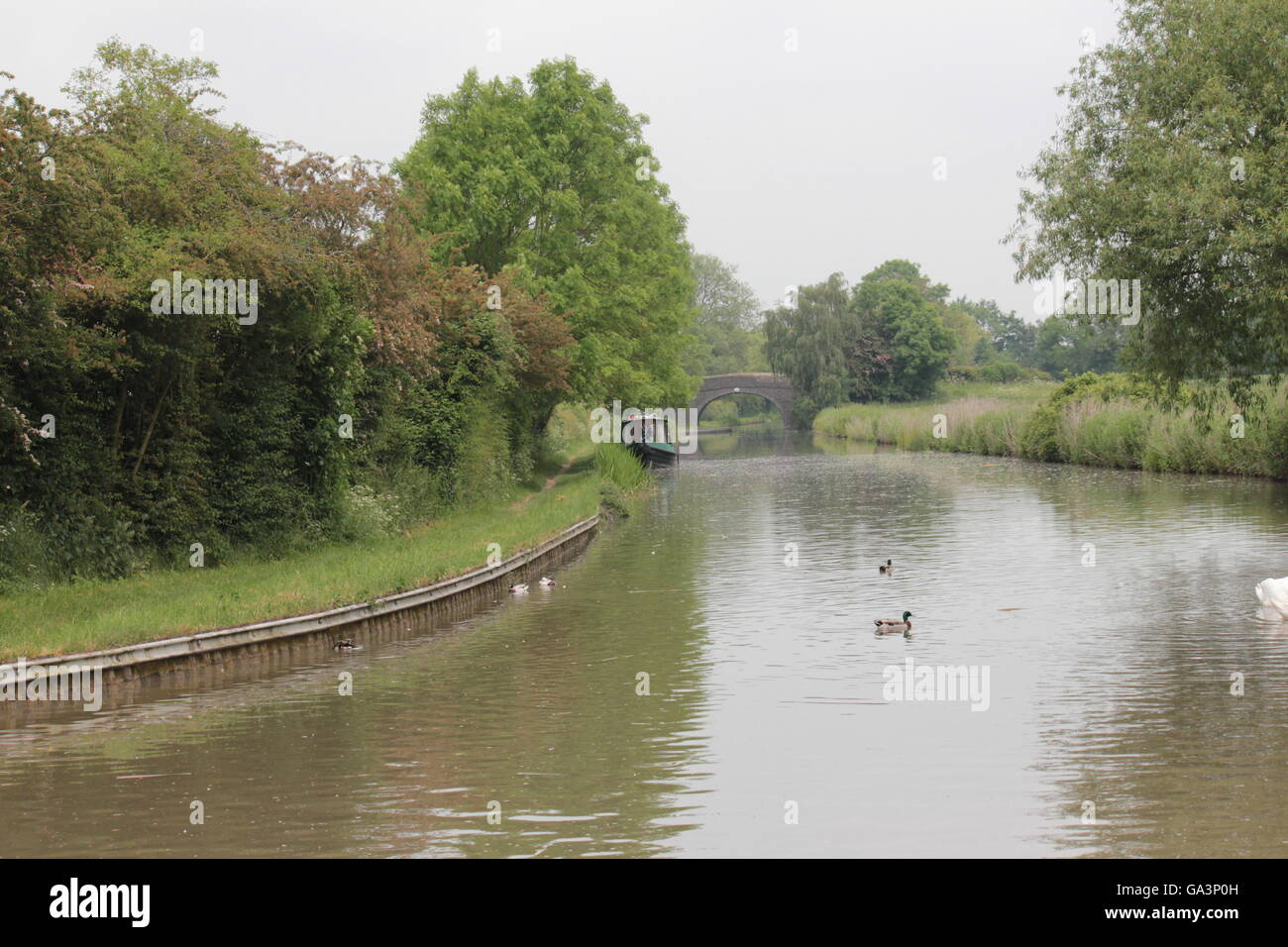 English canal and inland waterway - Stock Image
