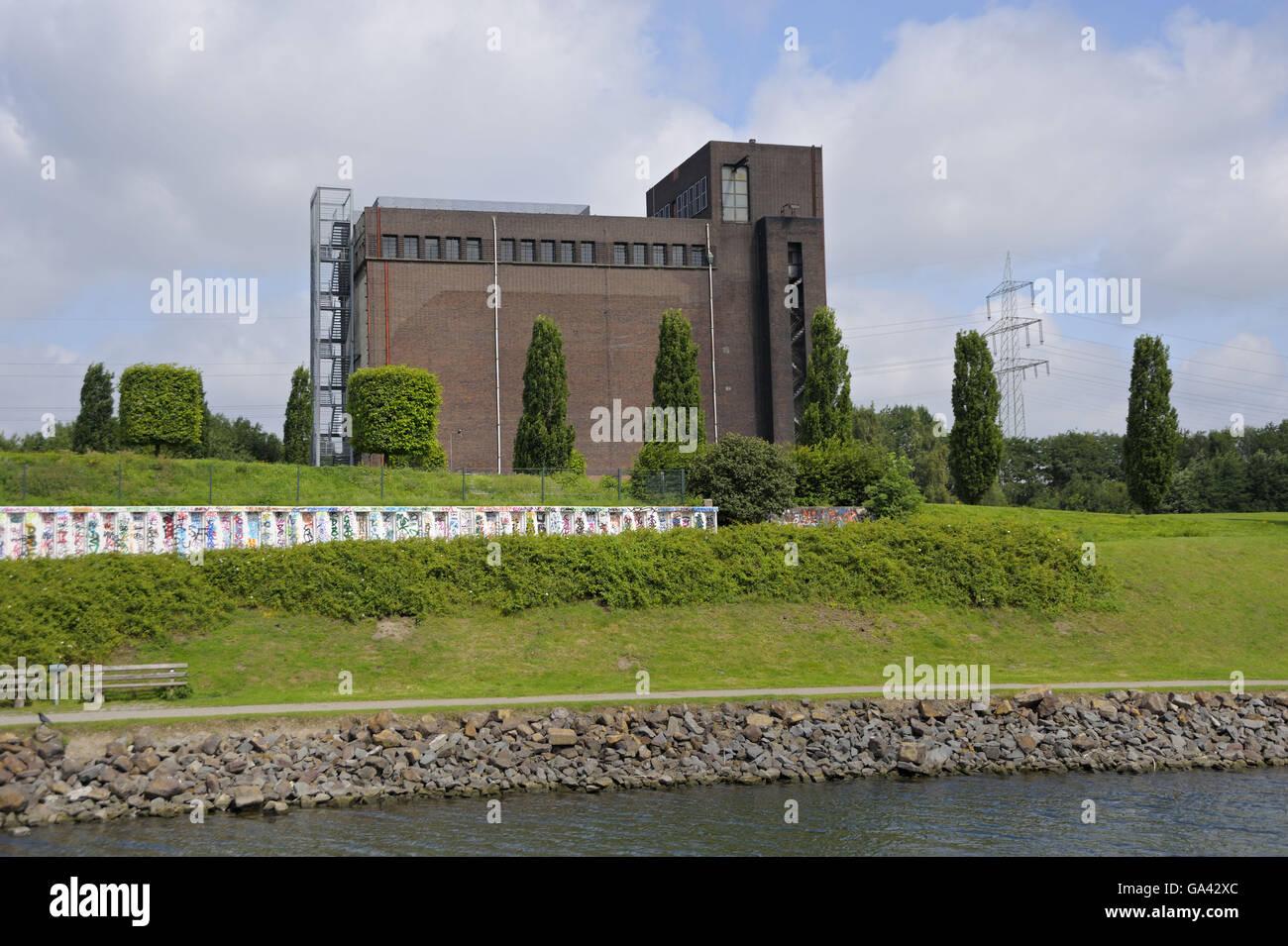 Former coal mine Nordstern, Gelsenkirchen, North Rhine-Westphalia, Germany / Industrial Heritage Trail - Stock Image