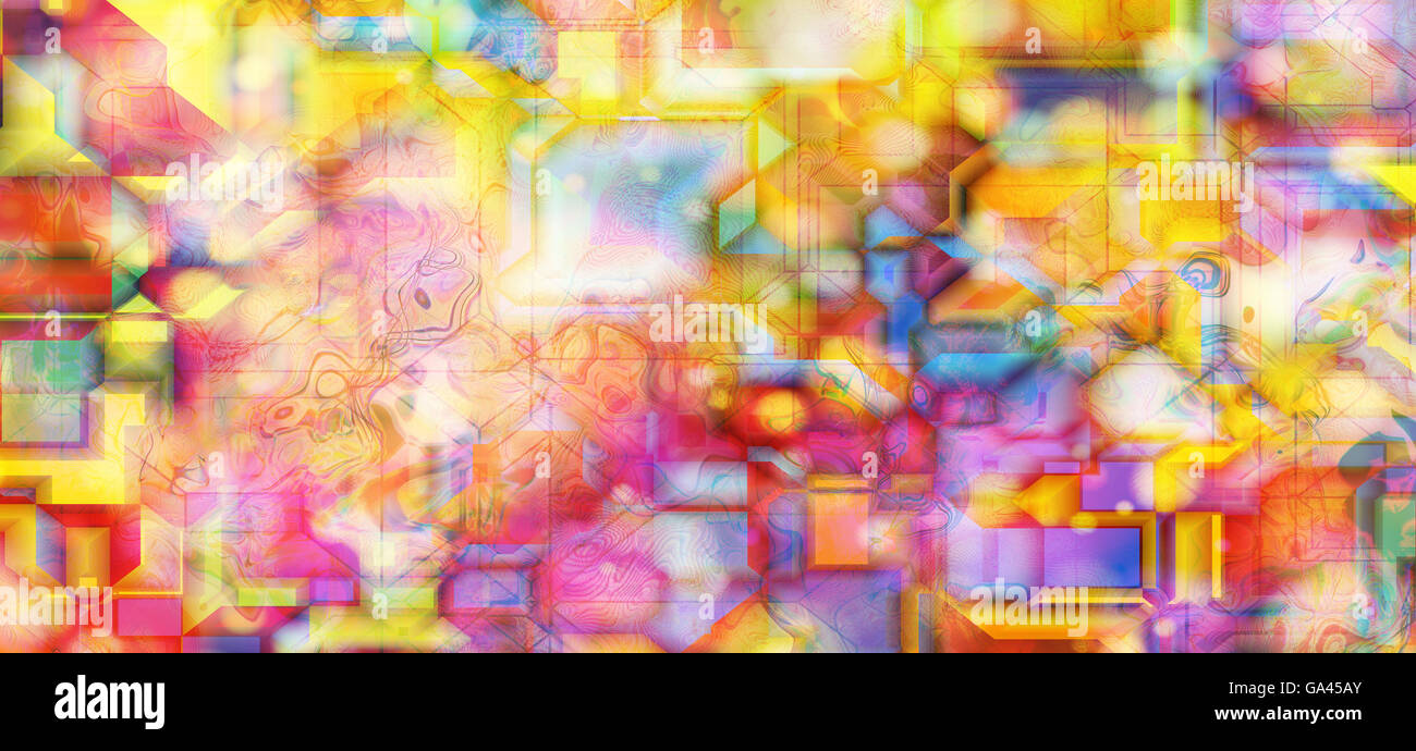 colorful abstract background, digitally generated - Stock Image