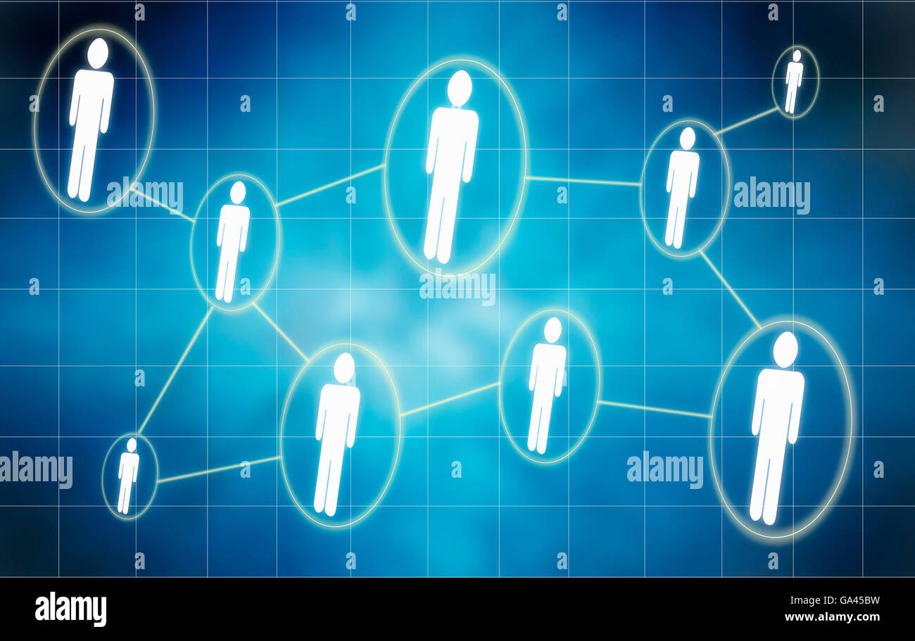 people social networking concept illustration - Stock Image