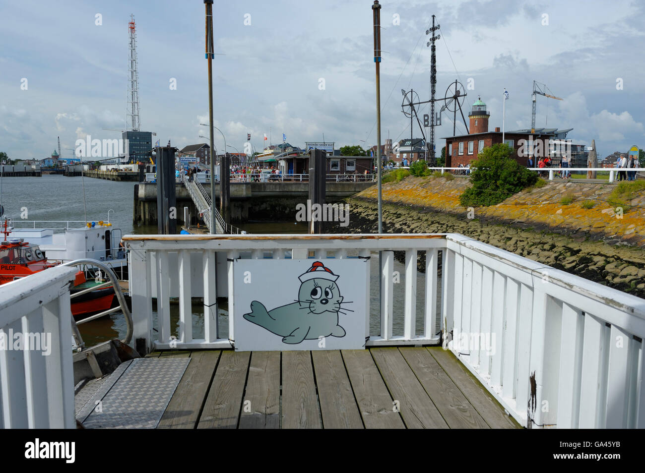 Harbour, Cuxhaven, Germany - Stock Image