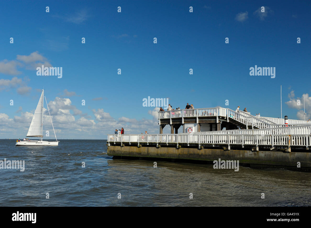Alte Liebe, harbour of Cuxhaven, Germany - Stock Image