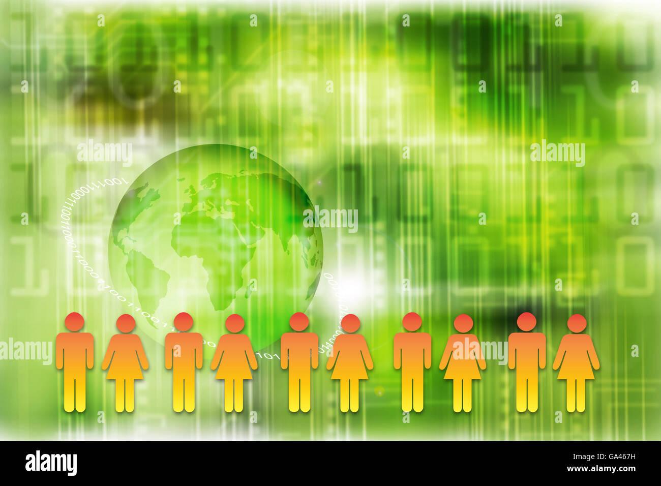social media concept illustration - Stock Image