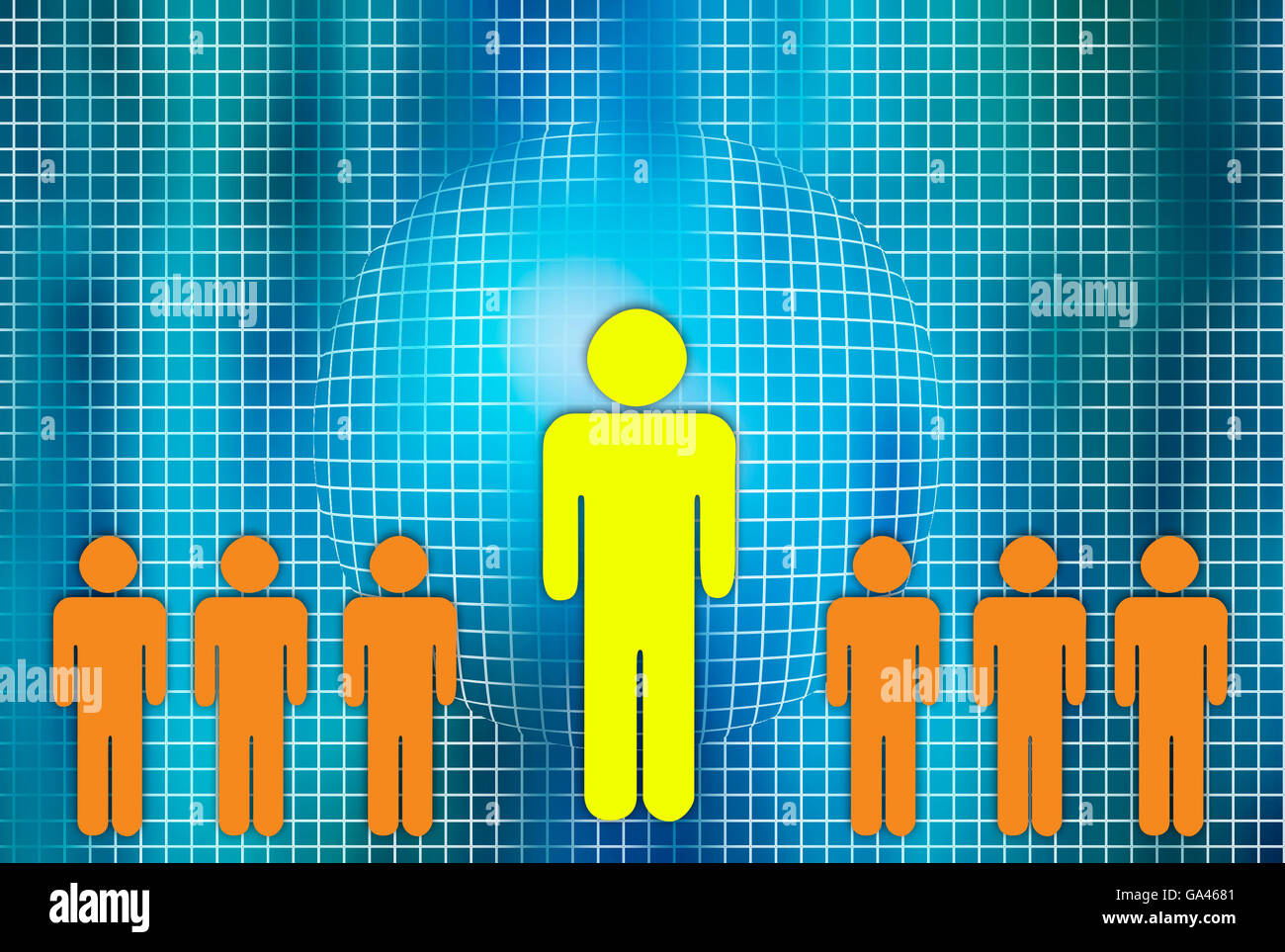 people social network concept illustration - Stock Image