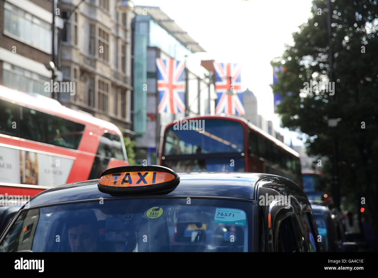 Oxford Street in London's West End, to be pedestrianized by 2020, decided by Mayor Sadiq Khan, in England, UK - Stock Image