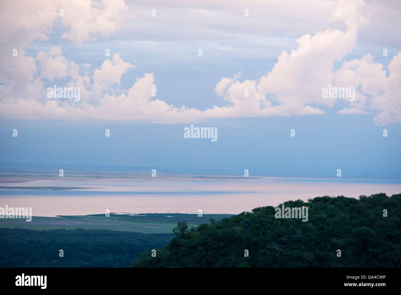 View over Lake Manyara National Park, Tanzania - Stock Image