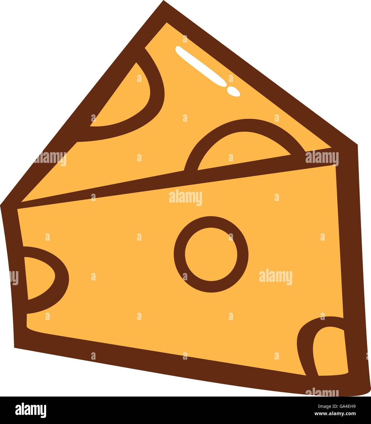 cheese slice clipart vector stock vector art illustration vector rh alamy com Swiss Cheese Slice Clip Art Swiss Cheese Slice Clip Art