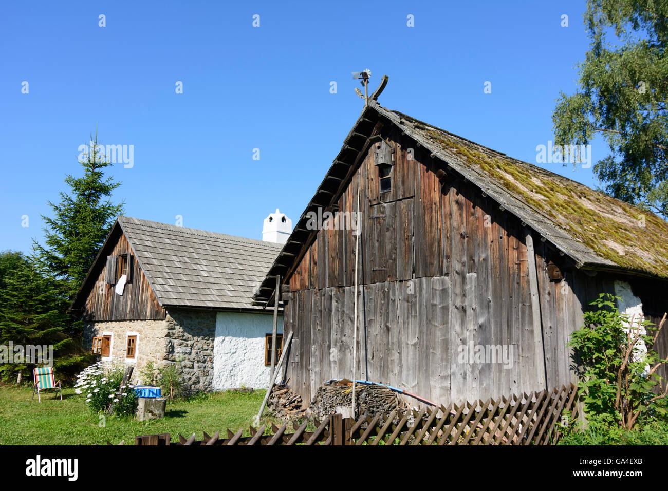 Altmelon old farmhouses Austria Niederösterreich, Lower Austria Waldviertel - Stock Image