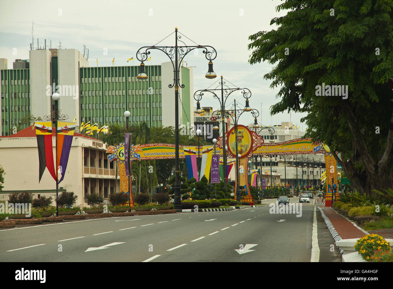 Innercity of Bandar Seri Begawan, Brunei - Stock Image