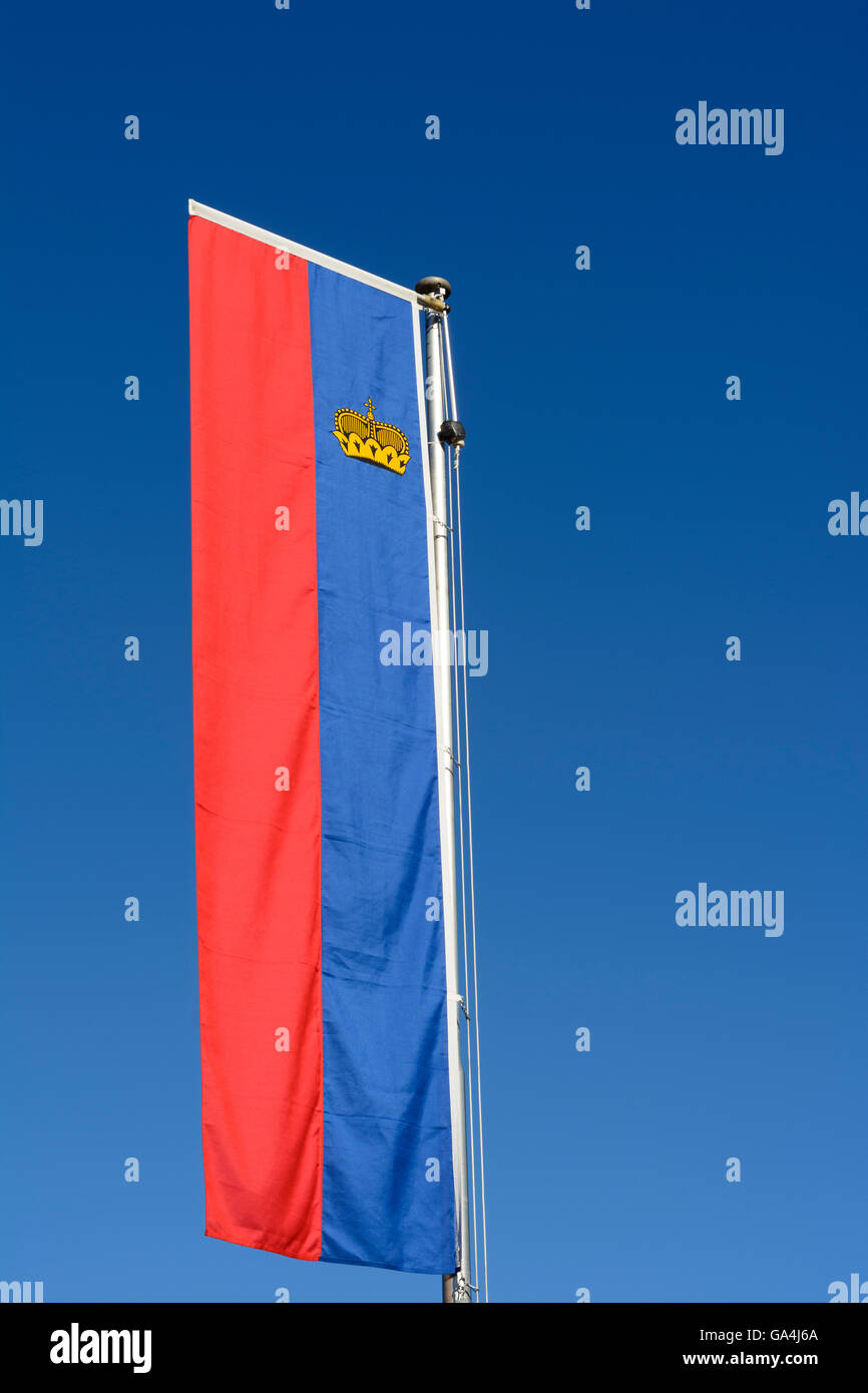 flag of Liechtenstein Liechtenstein - Stock Image
