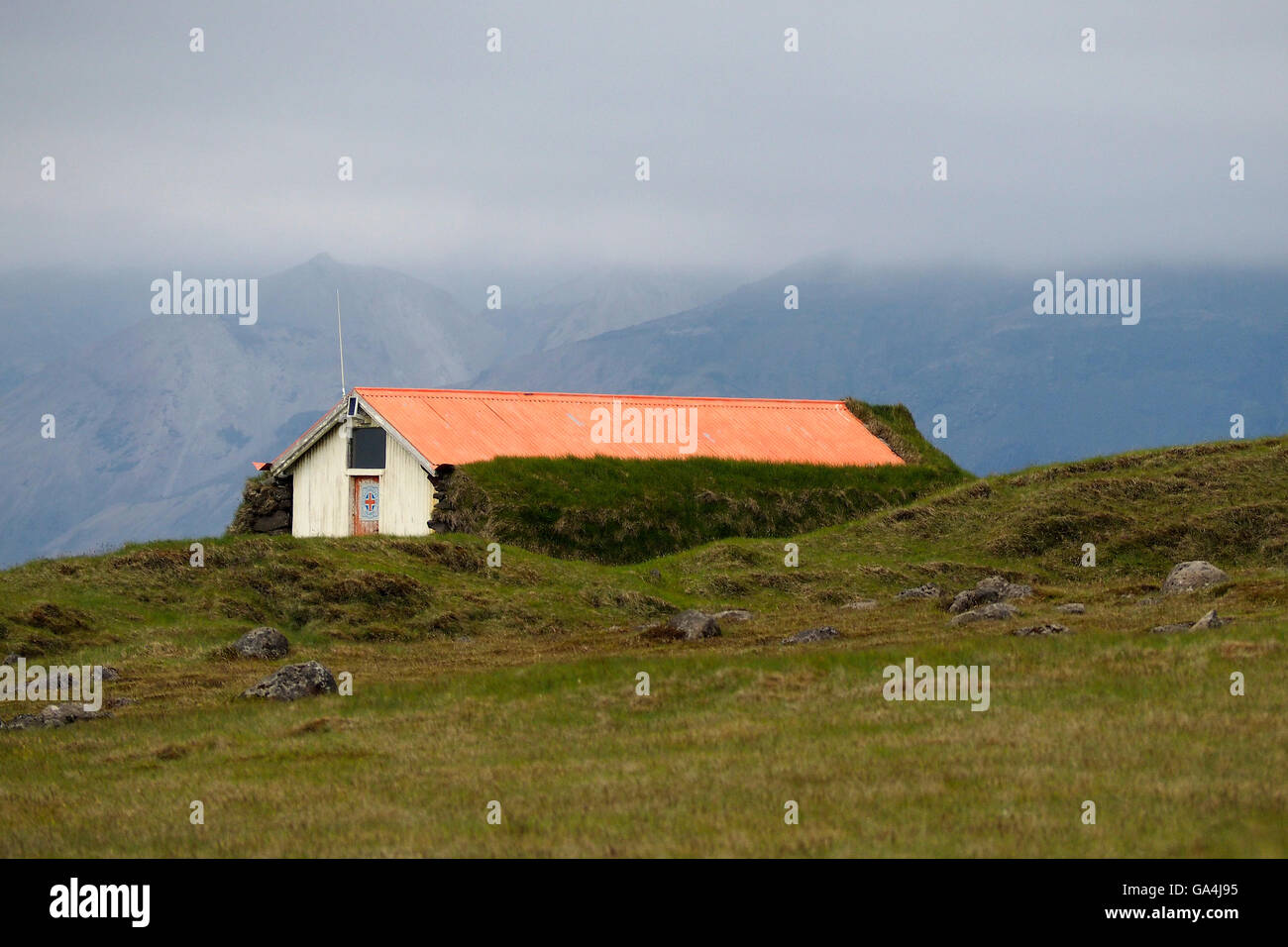 shepherd hut iceland Stock Photo