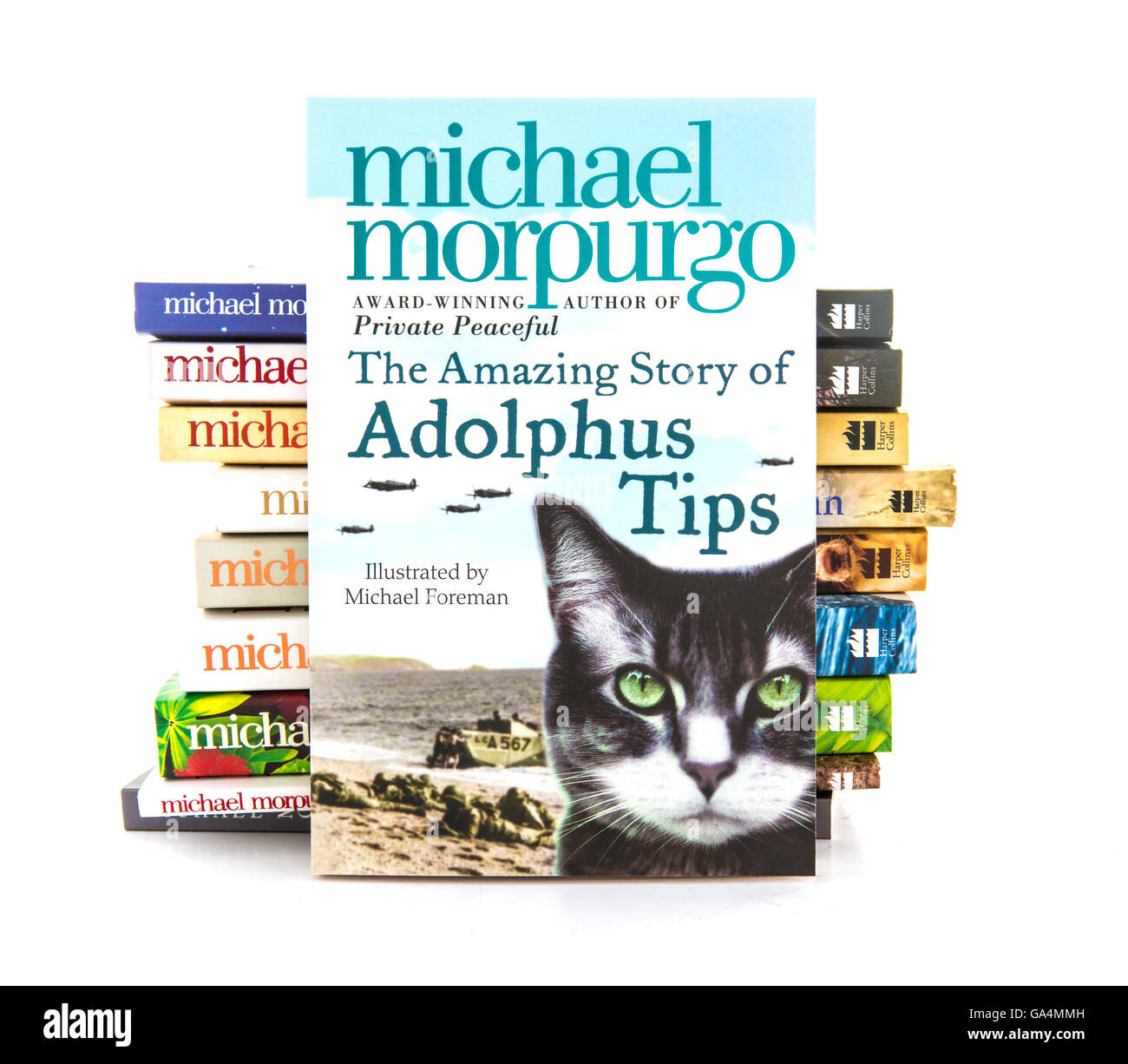 The Amazing Story Of Adolphus Tips by Michael Morpurgo on a white background - Stock Image