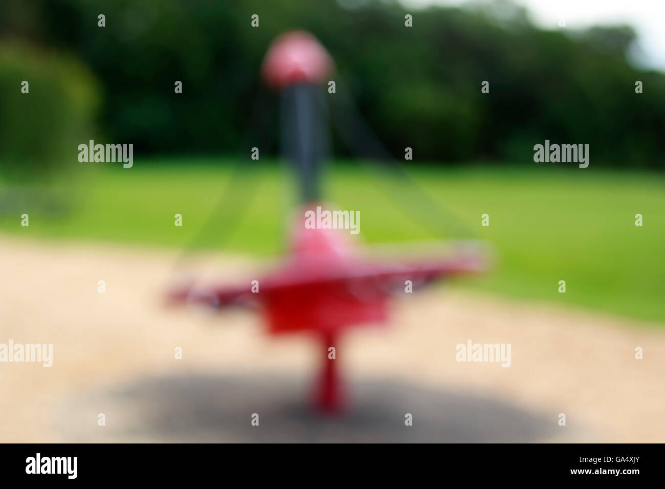 Defocused and blurred image for background of children's playground - Stock Image
