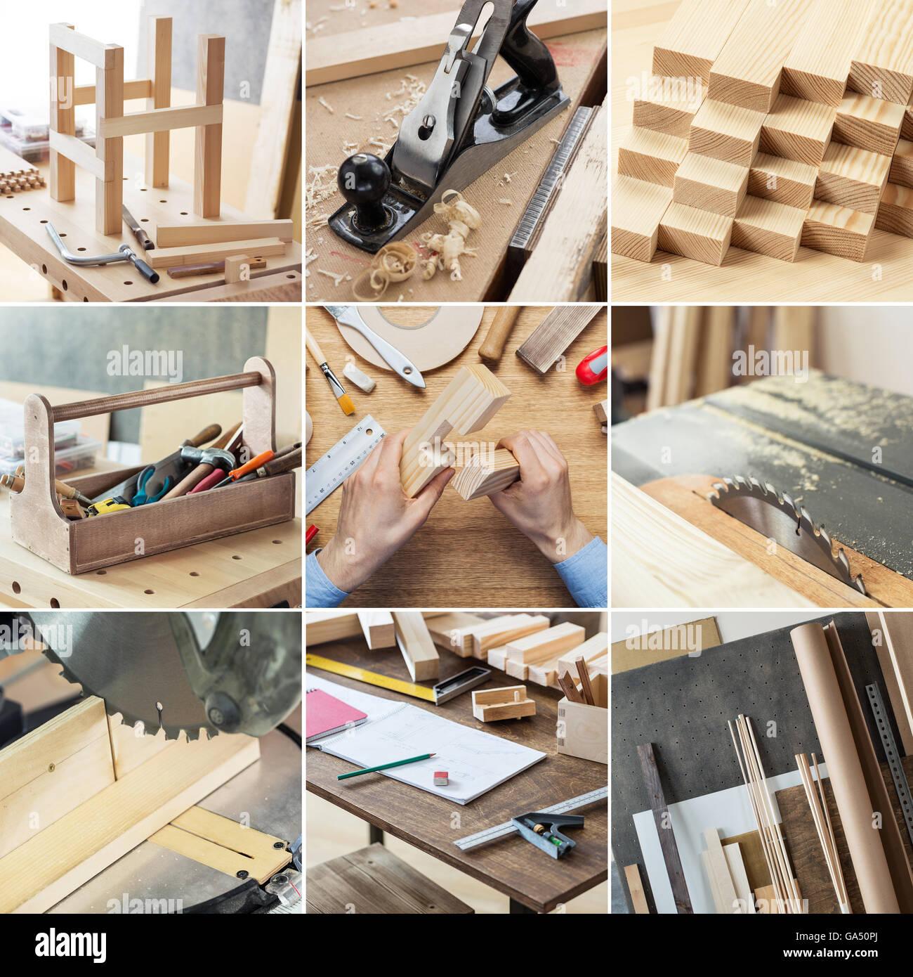 Various Woodworking Carpentry Repairing Diy Tools And Supplies In