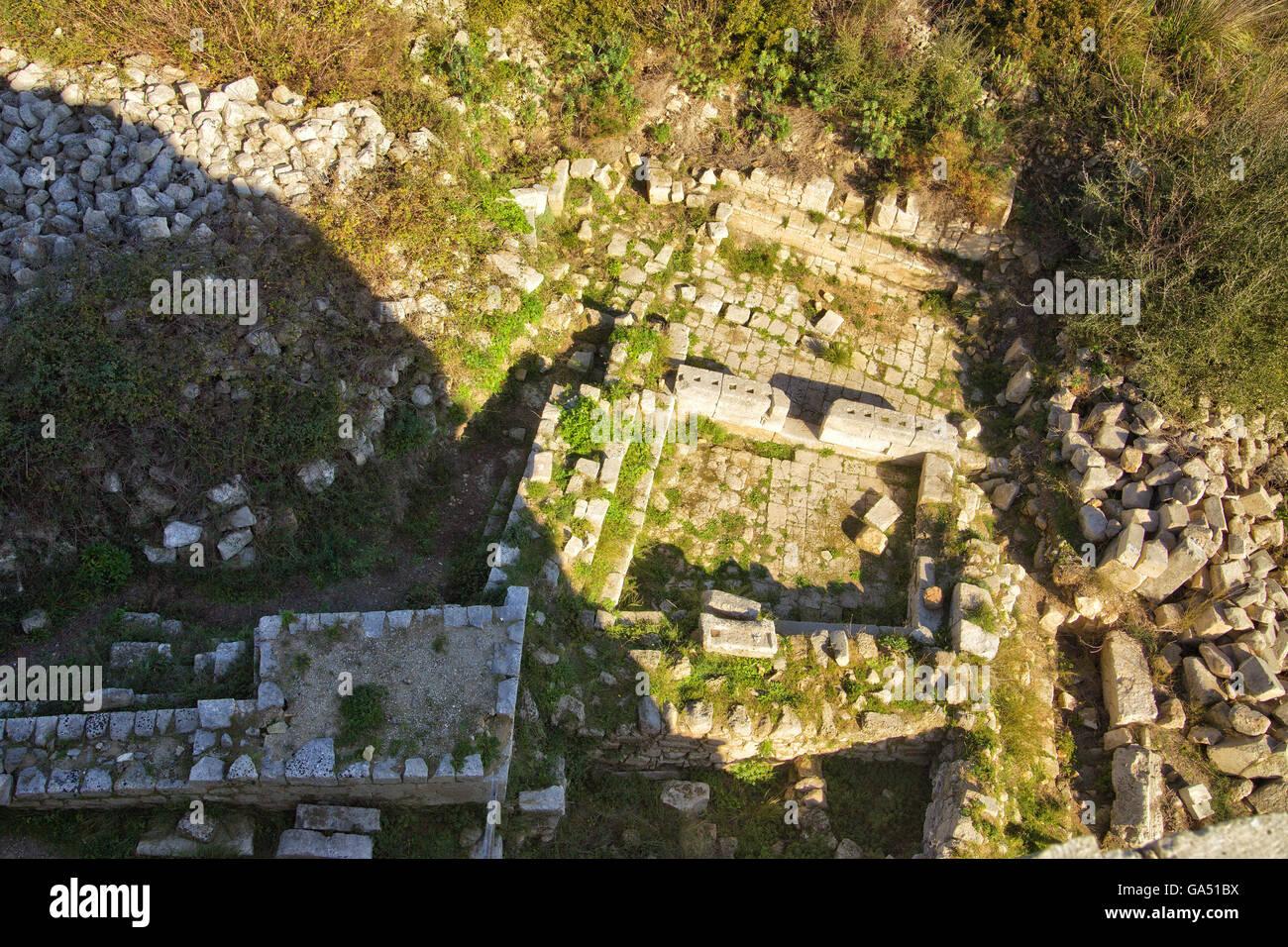 Noto Ancient, medieval castle, prisons - Stock Image