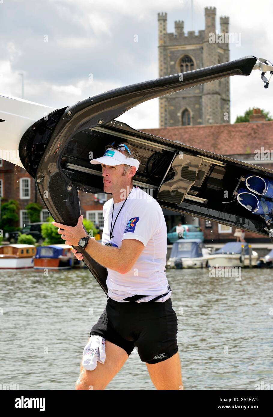 Henley-on-Thames, UK. 3rd July, 2016. Mahe Drysdale ending his campaign on Finals Day at the Henley Royal Regatta - Stock Image