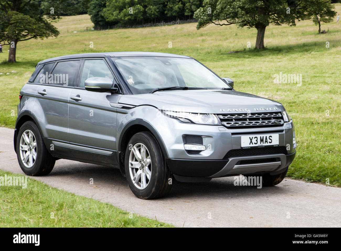 2013  Landrover, Range Rover Evoque Pure S at Leighton Hall Classic Car Rally, Carnforth, Lancashire, UK.  3rd July, - Stock Image