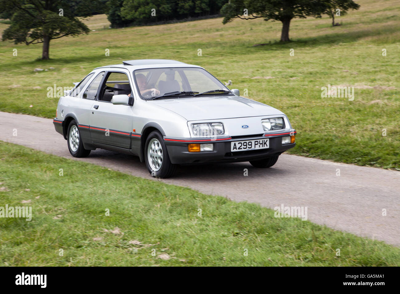 1983 Ford Sierra XR4i at Leighton Hall Classic Car Rally, Carnforth, Lancashire, UK.  3rd July, 2016.  The annual - Stock Image