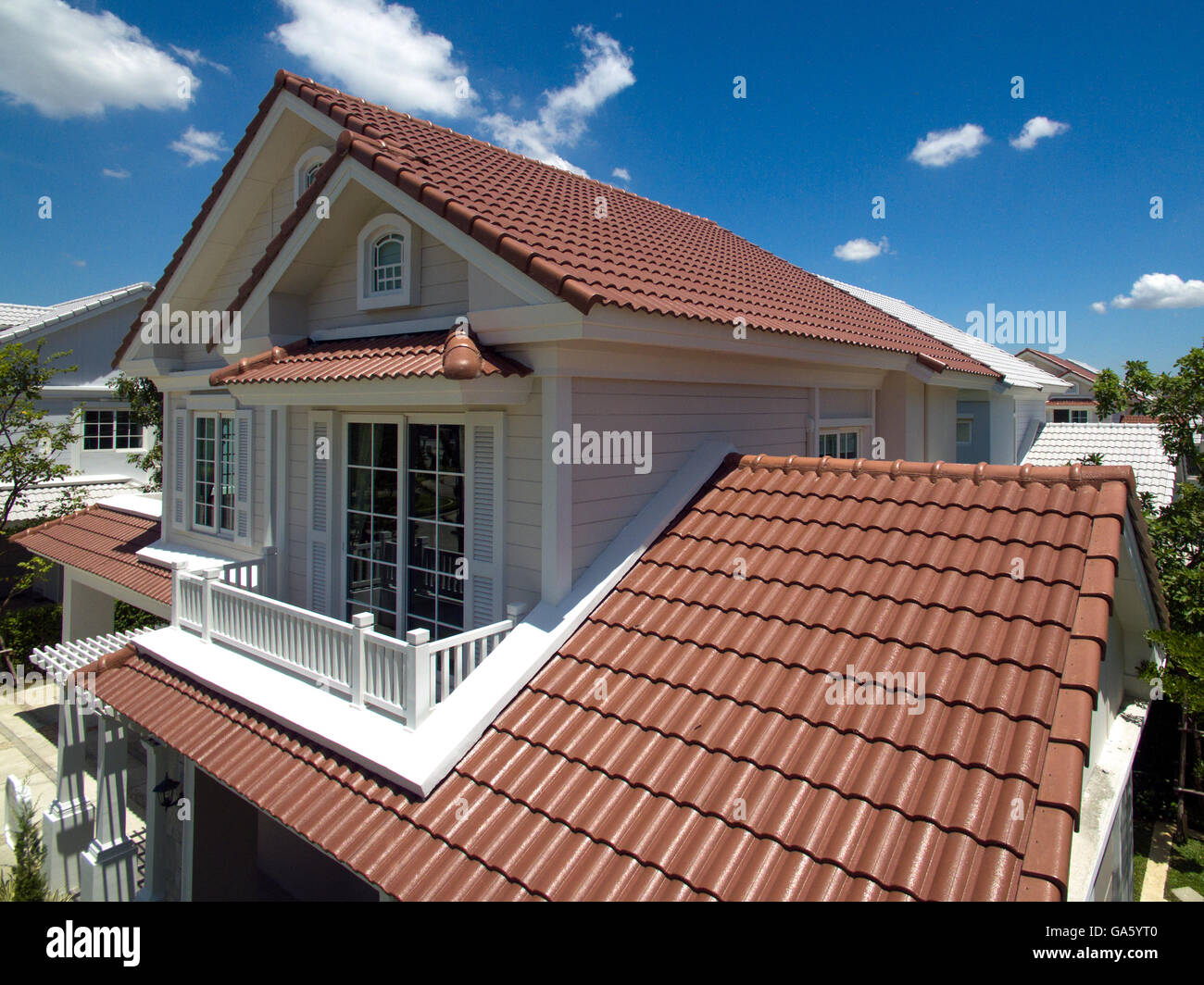 House Roofs tiles, new styles and colors Stock Photo: 109540368 - Alamy