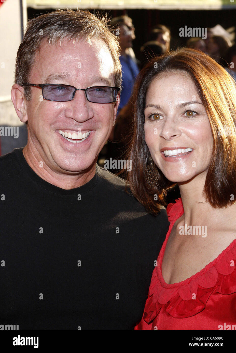Tim Allen and Jane Allen at the World Premiere of 'Swing Vote' held at the El Capitan Theater in Hollywood, - Stock Image