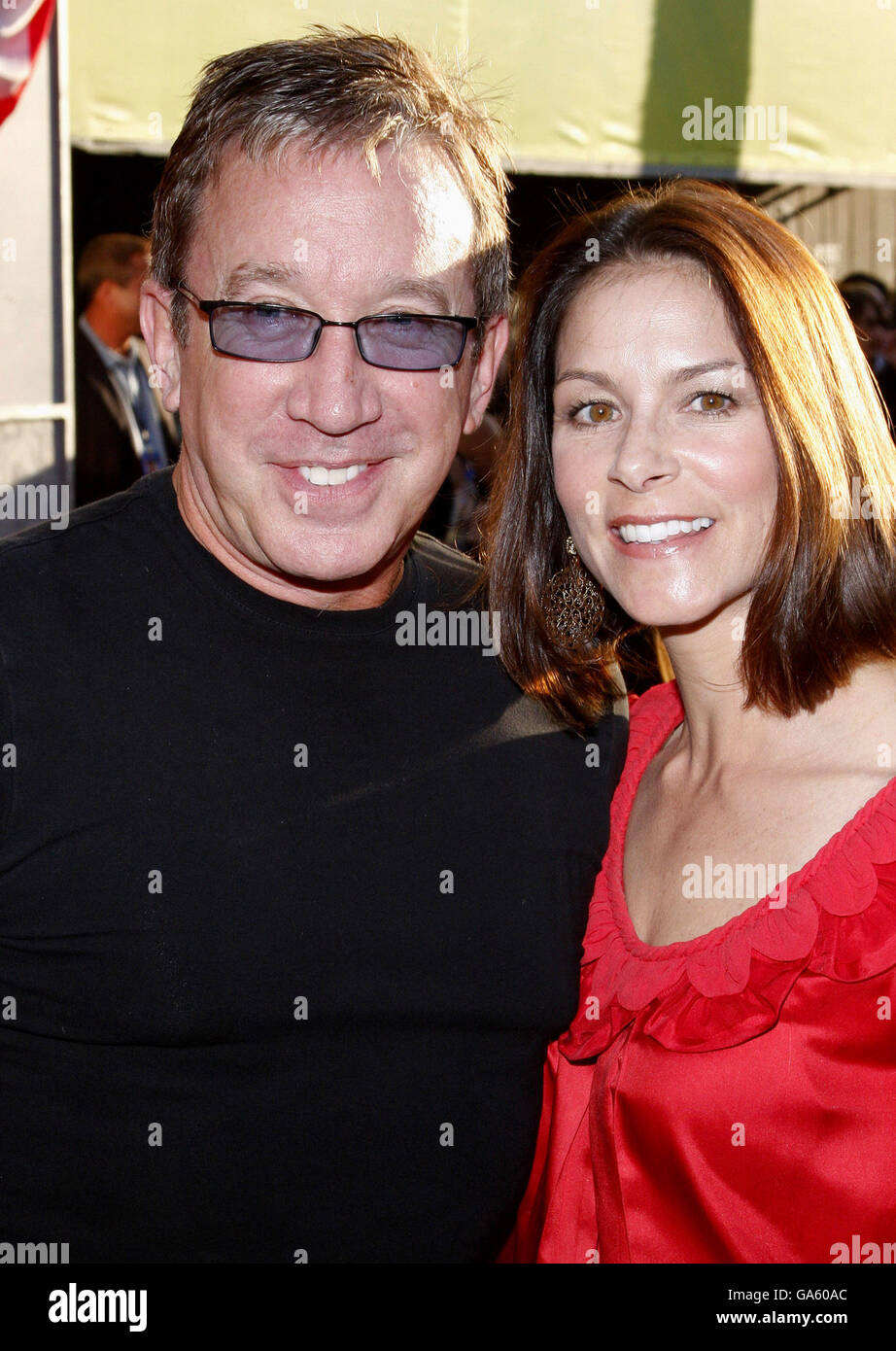 24/07/2008 - Hollywood - Actor Tim Allen and Jane Allen at the World Premiere of 'Swing Vote' held at the - Stock Image